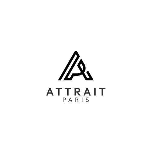 Single line design with the title 'Unique A & P monogram for a clothing line'