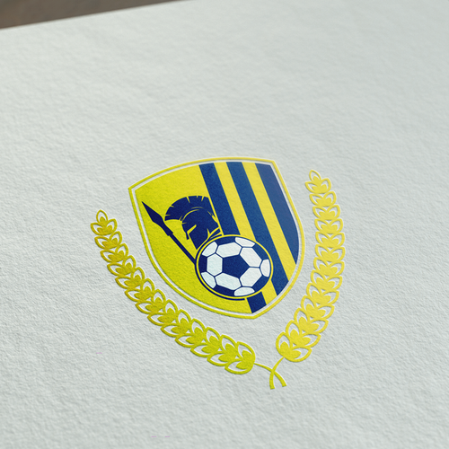 Laurel wreath design with the title 'Soccer Team Logo '