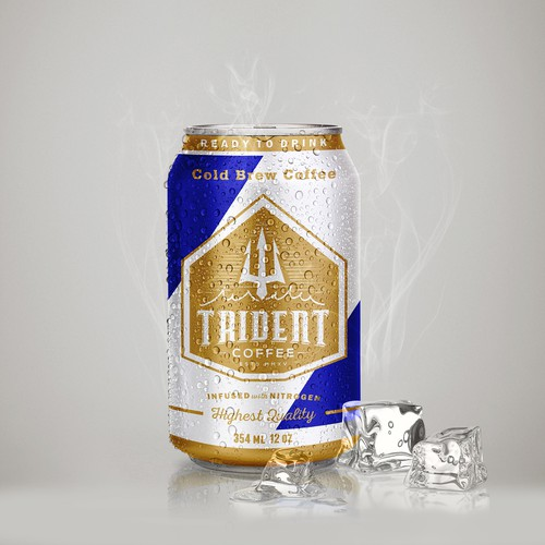 Cold brew label with the title 'Trident coffee brew'