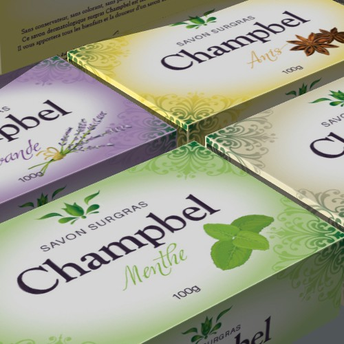 Almond packaging with the title 'Champbel'