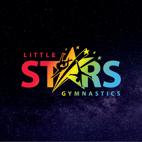 Gymnastics logo with the title 'Little STARS'