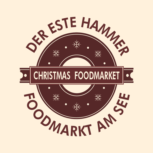 Basic logo with the title 'Christmas Themed Foodmarket Logo'