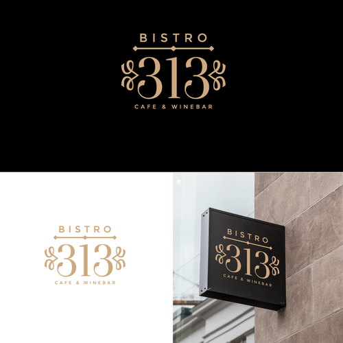 Bistro logo with the title 'Bistro 313'