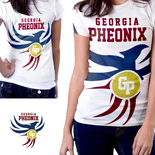 "Textile logo with the title 'T-Shirt Design proposal for ""Georgia Phoenix""'"