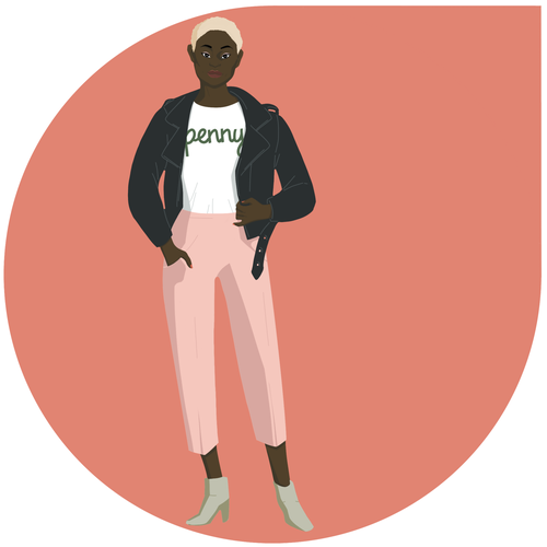 Girl power design with the title 'Illustration for money management platform '