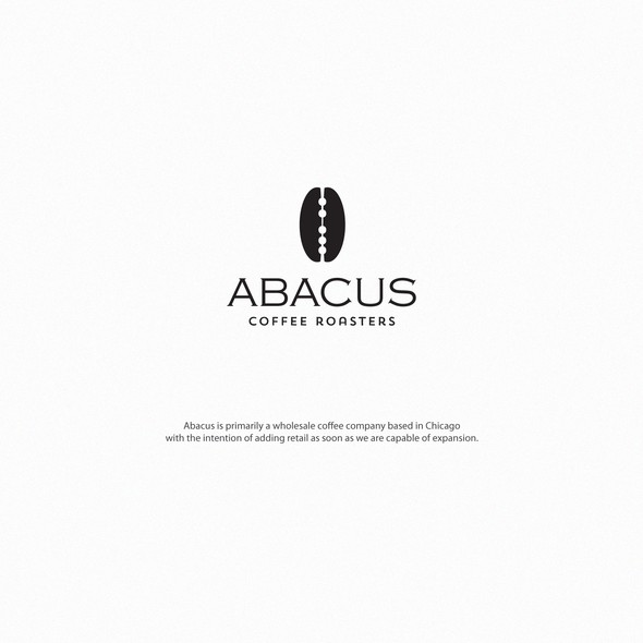 Roaster logo with the title 'abacus coffee roasters'