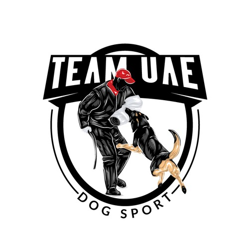 Competition logo with the title 'Dogs show'