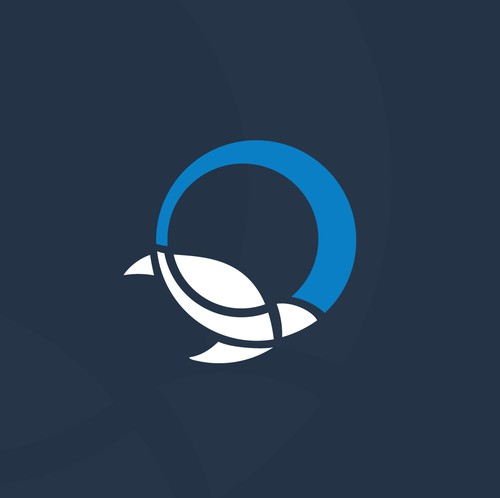 Abstract circle logo with the title 'A Simple Unique Conceptual logo for a Mining Industry Brand'