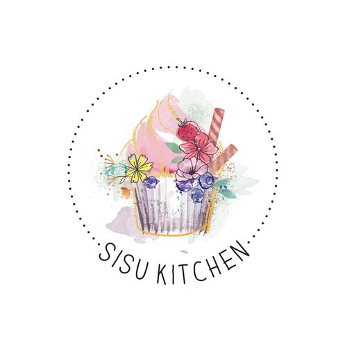 Unique brand with the title 'Sisu Kitchen Logo design'