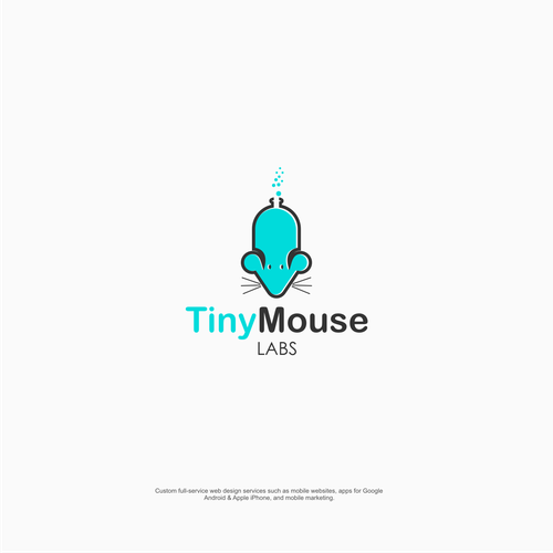 Simple font logo with the title 'TinyMouse Labs'