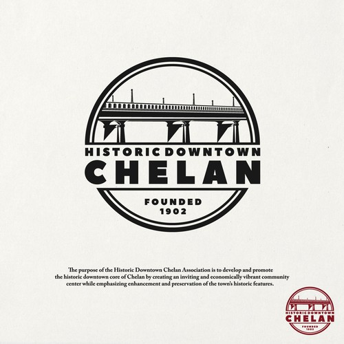 Downtown logo with the title 'Historic Downtown Chelan'