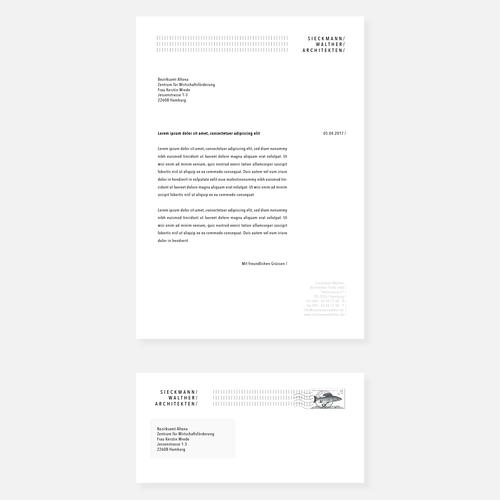 Different design with the title 'Minimalistic Corporate Identity Concept for Architecture Studio'