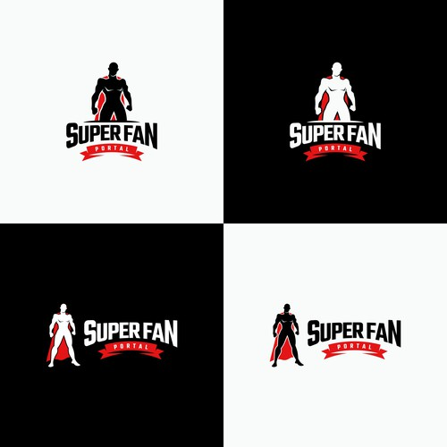 Superman logo with the title 'SUPERFAN'
