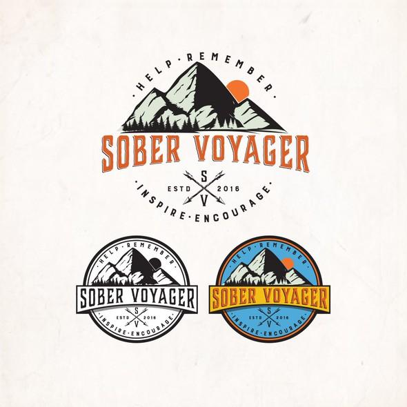 Vintage badge logo with the title 'Sober Voyager S/V'