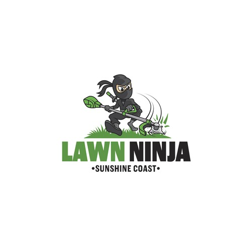 Parkour logo with the title 'lawn ninja'
