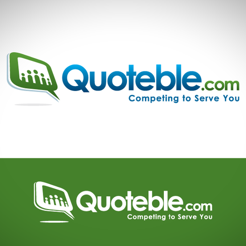 Home improvement logo with the title 'Quoteble.com logo design'
