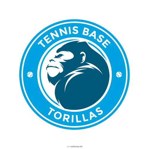 Badminton logo with the title 'TENNIS BASE TORILLAS'
