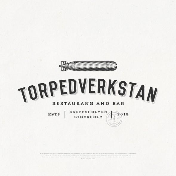 Bar brand with the title 'Torpedverkstan Restaurang & Bar'