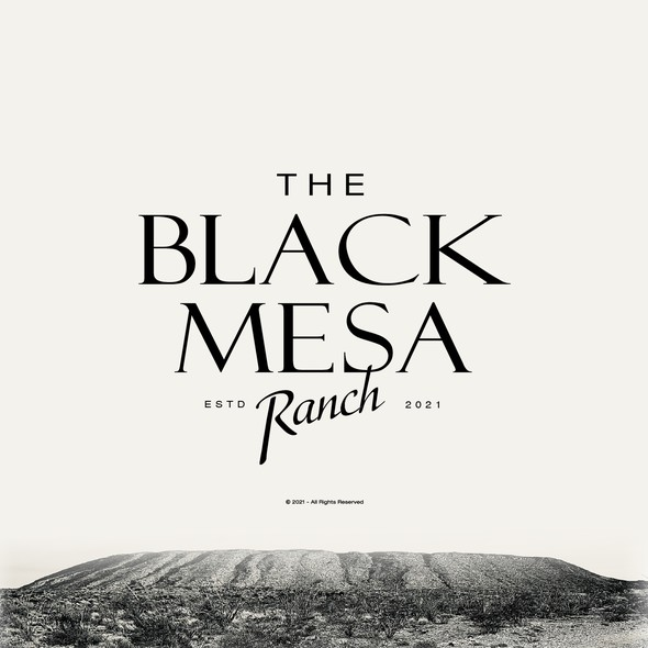 Serif logo with the title 'Black Mesa Ranch'
