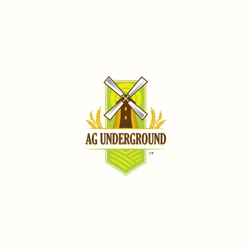 Growth logo with the title 'Vintage agricultural design - Ag Underground Ltd'