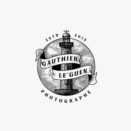 Lighthouse logo with the title 'Gauthier Le Guen Photography Logo'
