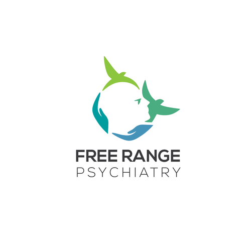 Mental health design with the title 'Clever & modern logo for psychiatric services'