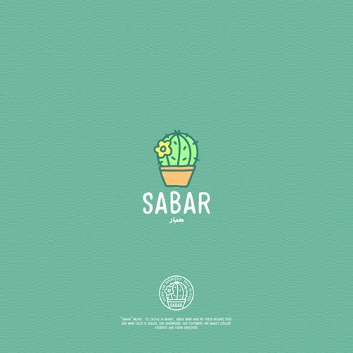 Cactus logo with the title 'SABAR'