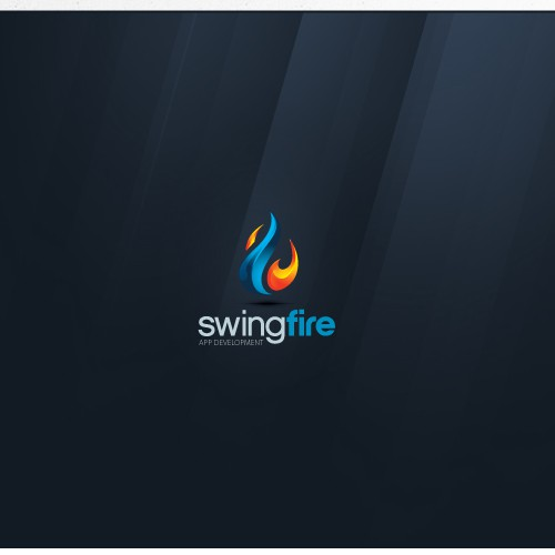 Conceptual logo with the title 'Design logo for Swingfire - An app development company!'