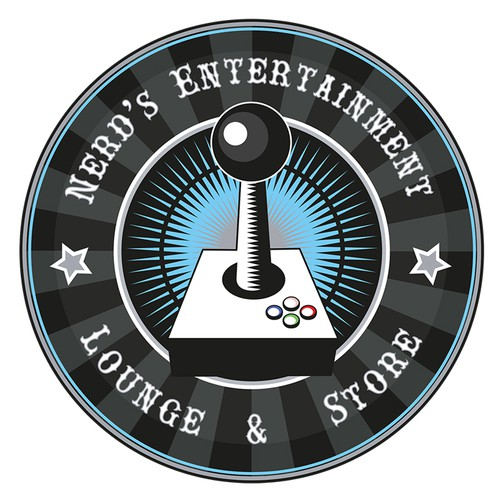 Nerd logo with the title 'Video Game Store Logo'