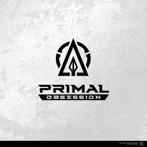 Hunting logo with the title 'Primal Obsession'