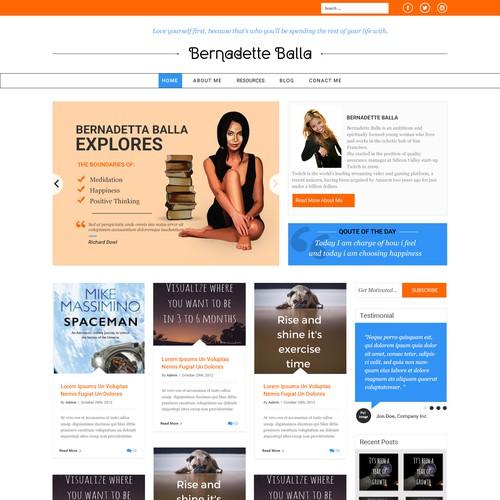Infographic website with the title 'Bernadette Balla Blog'