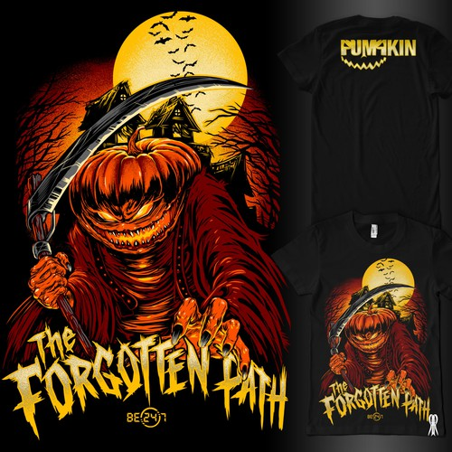 Halloween design with the title 'PUMPKIN Merchandise (T-shirt)'