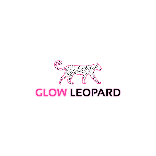 Leopard logo with the title 'Glow Leopard'