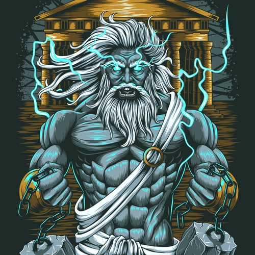Gym t-shirt with the title 'Gods t-shirt design'