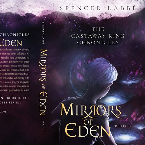 Series book cover with the title ''Mirrors of Eden' Book 2 - 'The Castaway King Chronicles' by Spencer Labbé'