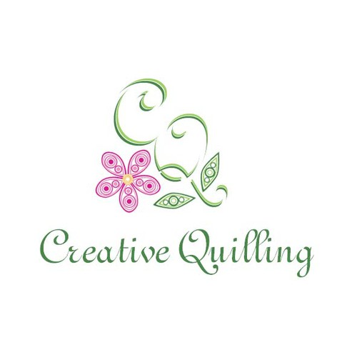 Quill logo with the title 'elegant logo for quilling'