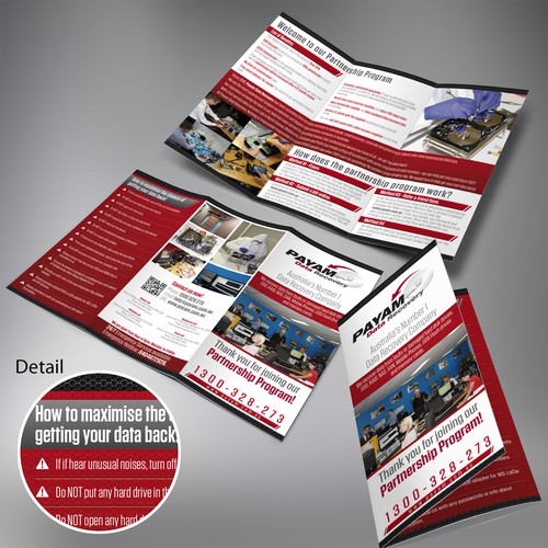 Hardware design with the title 'Payam Data Recovery Pty Ltd needs a new brochure design'