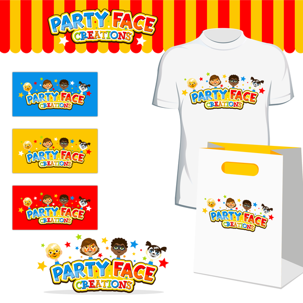 Child's face logo with the title 'Party Face Creations'