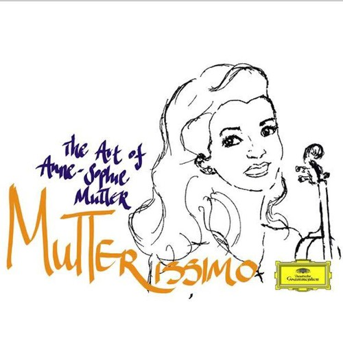 Musician illustration with the title 'CD cover design for Anne-Sophie Mutter'