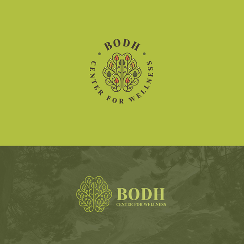 Clinic design with the title 'Logo Design for BODH - Center for Wellness'