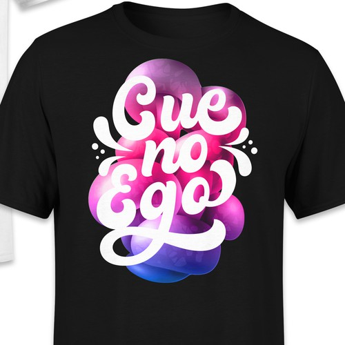 Trippy design with the title 'Cue no Ego - T-shirt'