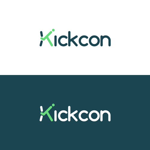 Convention design with the title 'KickCon | World's Best Kickstarter Convention'