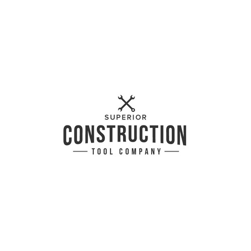 Mechanic logo with the title 'logo for superior construction company'