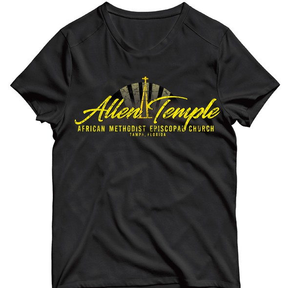 Distressed t-shirt with the title 'Rligious retro, urban t-shirt design'