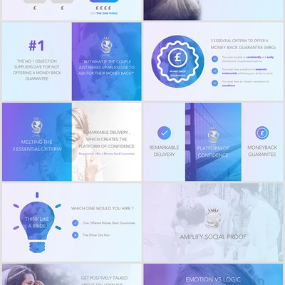 Beautiful and Elegant Wedding Presentation Deck/Theme/Template Design