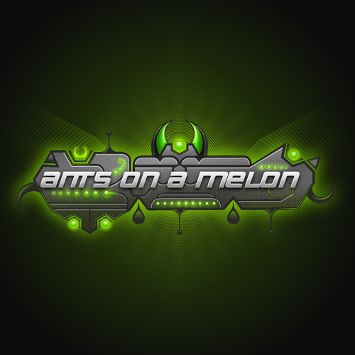 Futuristic illustration with the title 'Ants On a Melon'