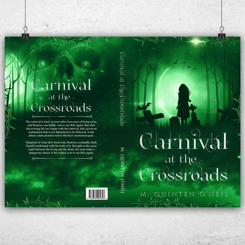 Green book cover with the title 'Carnival at the Crossroads '