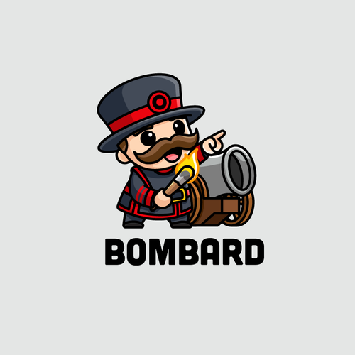 Camouflage logo with the title 'Bombard'