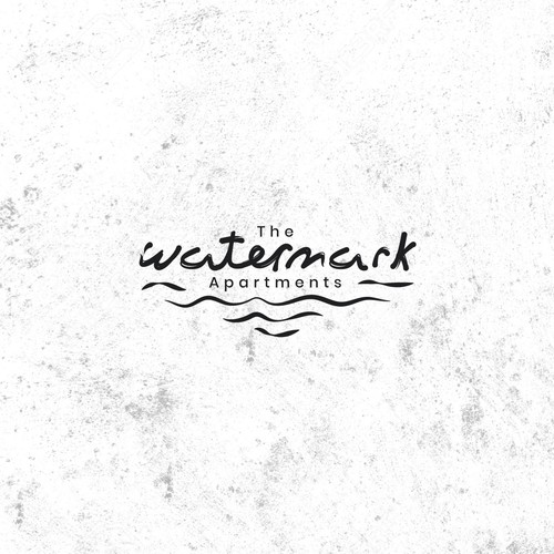 Watermark logo with the title 'Handmade logo concept for housing agency '