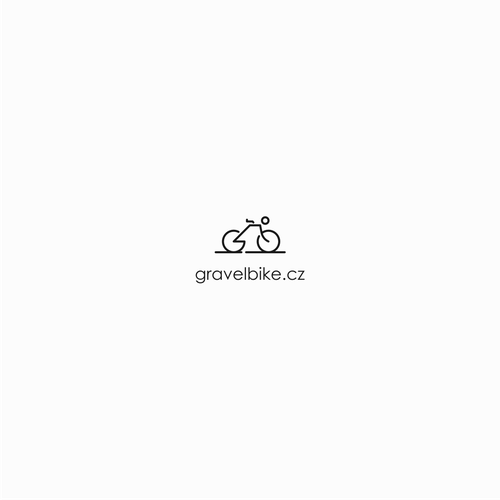 Tidy design with the title 'gravelbike.cz'